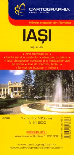IASI plan miasta 1:14 500 CARTOGRAPHIA