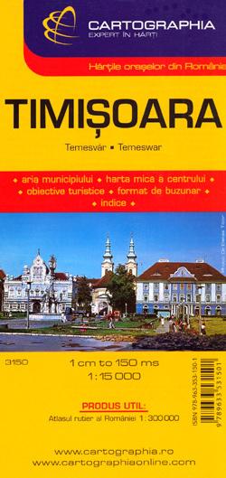 TIMISOARA plan miasta 1:15 000 CARTOGRAPHIA