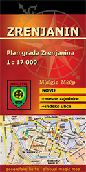 Zrenjanin plan miasta 1:17 000 MAGIC MAP