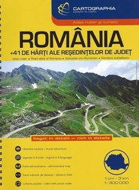 RUMUNIA atlas samochodoway 1:300 000 CARTOGRAPHIA