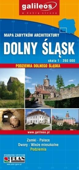 DOLNY ŚLĄSK mapa zabytków architektury 1:260 000 PLAN