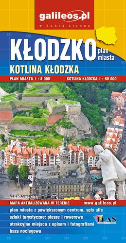 KŁODZKO I KOTLINA KŁODZKA plan miasta 1:8 000  mapa 1:50 000 wyd. PLAN