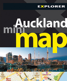 AUCKLAND plan miasta MINI MAP Explorer Publishing