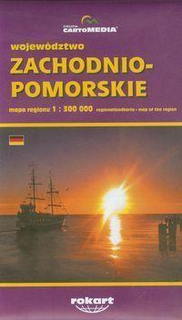 ZACHODNIO-POMORSKIE WOJEWÓDZTWO mapa regionu 1:300 000 CARTOMEDIA