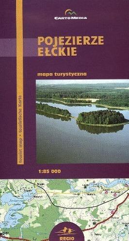 POJEZIERZE EŁCKIE mapa turystyczna 1:85 000 CARTOMEDIA