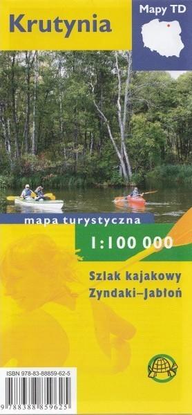 KRUTYNIA Szlak kajakowy Zyndaki-Jabłoń mapa turystyczna 1:100 000 TD