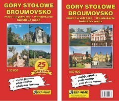 GÓRY STOŁOWE BROUMOVSKO mapa turystyczna 1:50 000 EKO-GRAF 2015/2016