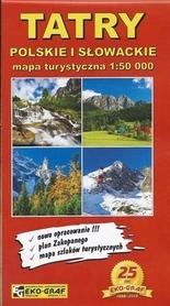 TATRY POLSKIE I SŁOWACKIE mapa turystyczna 1:50 000 EKO-GRAF
