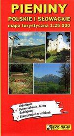 PIENINY POLSKIE I SŁOWACKIE mapa turystyczna 1:25 000 EKO-GRAF 2014