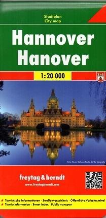 HANOWER HANNOVER plan miasta 1:20 000 FREYTAG & BERNDT