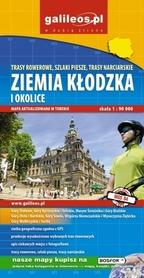 ZIEMIA KŁODZKA I OKOLICE trasy rowerowe piesze i narciarskie mapa turystyczna 1:90 000 PLAN