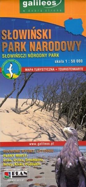 SŁOWIŃSKI PARK NARODOWY mapa turystyczna laminowana 1:50 000 STUDIO PLAN