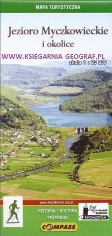 JEZIORO MYCZKOWIECKIE I OKOLICE mapa turystyczna 1:25 000 COMPASS