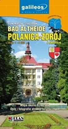 POLANICA ZDRÓJ I OKOLICE mapa 1:60 000 plan miasta 1:8 000 PLAN 2016
