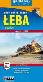 ŁEBA I OKOLICE mapa turystyczna PLAN