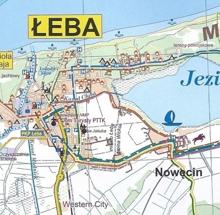 Leba I Okolice Mapa Turystyczna Plan