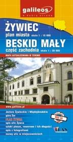 ŻYWIEC plan miasta Beskid Mały cz. zach mapa wyd. PLAN