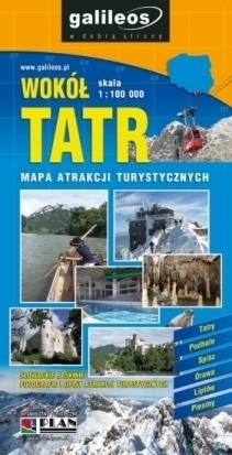WOKÓŁ TATR mapa atrakcji turystycznych PLAN 2012