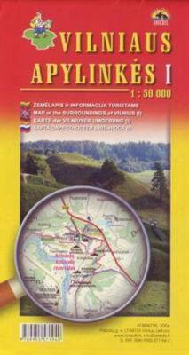 OKOLICE WILNA CZ. 1 pn-zach mapa turystyczna BRIEDIS
