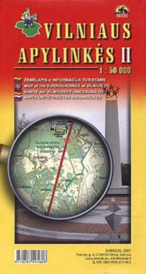 OKOLICE WILNA CZ. 2 pn-wsch mapa turystyczna BRIEDIS