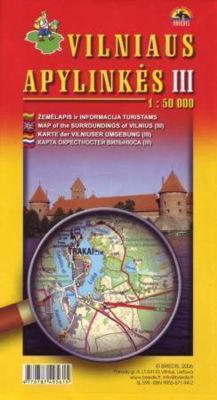 OKOLICE WILNA CZ. 3 pd-zach mapa turystyczna BRIEDIS