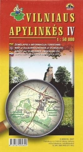 OKOLICE WILNA CZ. 4 pd-wsch mapa turystyczna BRIEDIS