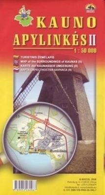 OKOLICE KOWNA CZ. 2 mapa turystyczna BRIEDIS
