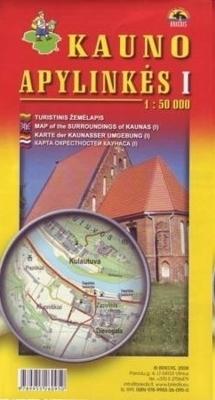 OKOLICE KOWNA CZ. 1 mapa turystyczna BRIEDIS