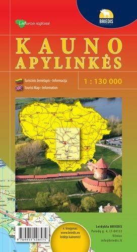 OKOLICE KOWNA mapa turystyczna 1:130 000 BRIEDIS 2014