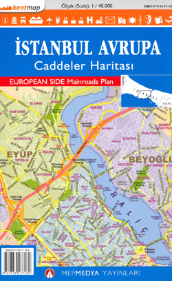 ISTAMBUŁ plan miasta 1:40 000 Mepmedya Turcja