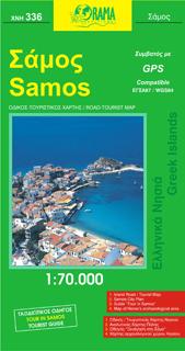 SAMOS mapa turystyczno - samochodowa 1:70 000 ORAMA