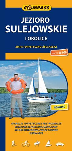 JEZIORO SULEJOWSKIE mapa turystyczno żeglarska COMPASS