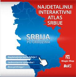 SERBIA interaktywny atlas Serbii CD