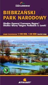 BIEBRZAŃSKI Park Narodowy mapa turystyczna 1:100 000 / 1:50 000 CARTOMEDIA