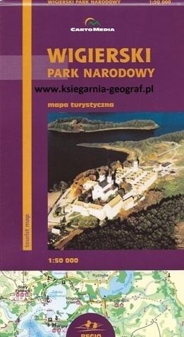 WIGIERSKI PARK NARODOWY mapa turystyczna 1:50 000 CARTOMEDIA