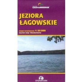 JEZIORA ŁAGOWSKIE mapa turystyczna 1:25 000 CARTOMEDIA