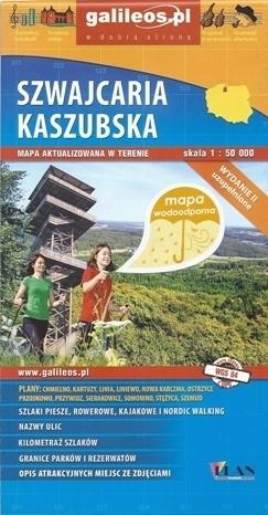 SZWAJCARIA KASZUBSKA mapa turystyczna WODOODPORNA 1:50 000 PLAN