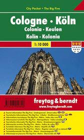 KOLONIA plan miasta laminowany 1:10 000 FREYTAG & BERNDT