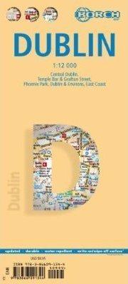 DUBLIN plan miasta laminowany 1:12 000 BORCH