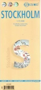SZTOKHOLM plan miasta laminowany 1:15 000 BORCH MAP