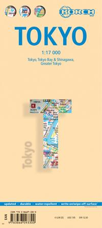 TOKIO TOKYO plan miasta laminowany 1:17 000 BORCH MAP