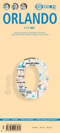 ORLANDO plan miasta laminowany 1:11 000 BORCH