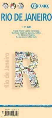 RIO DE JANEIRO plan miasta laminowany 1:13 000 BORCH MAP