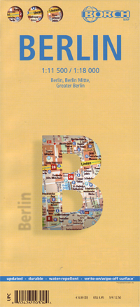 BERLIN plan miasta laminowany 1:11 500 / 1:18 000 BORCH 2013