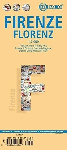 FLORENCJA plan miasta laminowany 1:7 000 BORCH