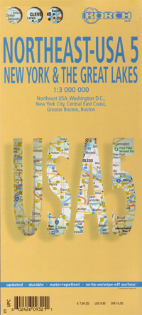 USA NORTHEAST mapa 1:3 000 000 wyd. BORCH MAPS