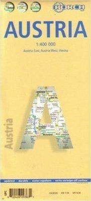 AUSTRIA mapa samochodowa laminowana 1:400 000 BORCH