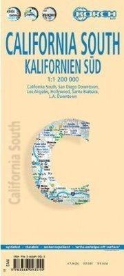 KALIFORNIA POŁUDNIOWA mapa samochodowa laminowana 1:1 200 000 BORCH