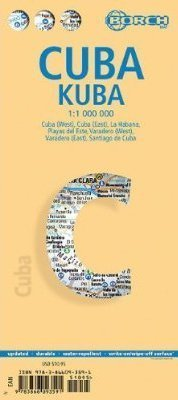 KUBA CUBA mapa samochodowa laminowana 1:1 000 000 BORCH 2016