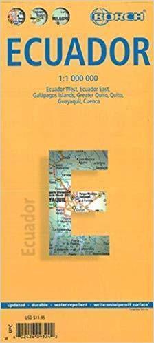 EKWADOR mapa laminowana 1:1 000 000 BORCH